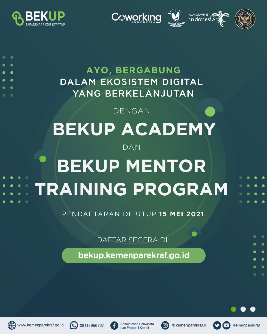 Event Baparekraf for Startup (BEKUP) 2021 Resmi Dimulai